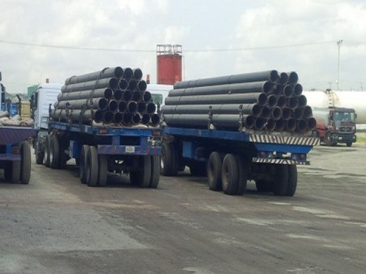 FORTUNE GLOBAL SHIPPING AND LOGISTICS PERFORMS PIPE LOADOUT FROM BUILDWELL YARD TO NBTC JETTY (RANGER - MSI - CONOIL OML59 AGLO)