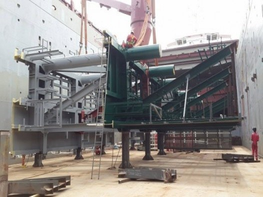 LASHING AND SEA FASTENING OF RISER PORCH STEEL STRUCTURES