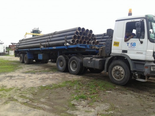 PIPES PACKED AT NBTC YARD IN OVWIAN DELTA STATE FOR LOAD OUT TO VESSEL