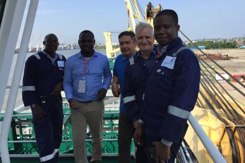 Sarl and Fortune Global Team During the Egina FPSO Project